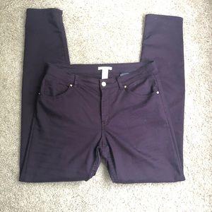 Purple H&M Skinny Pants Size 8